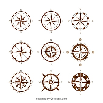 Brown compass set