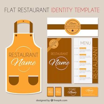 レストランのブラウンコーポレートアイデンティティテンプレート