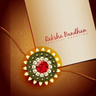 Brown design for raksha bandhan