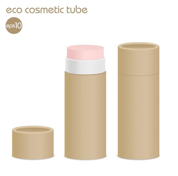 Коричневые эко косметические контейнеры