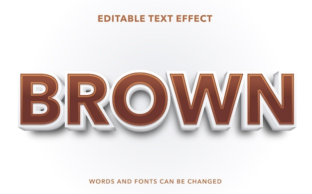 Brown editable text effect style