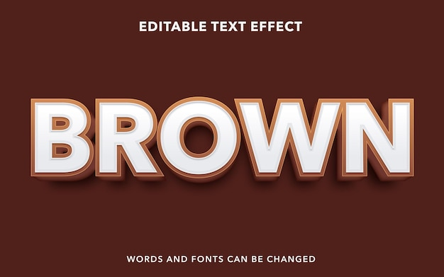 Brown editable text effect