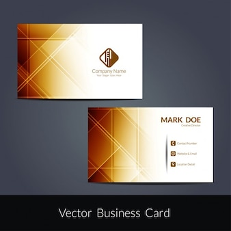 Brown elegant business card