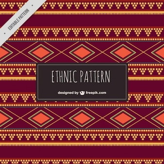 Brown ethnic pattern