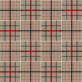 Brown fashion plaid pattern