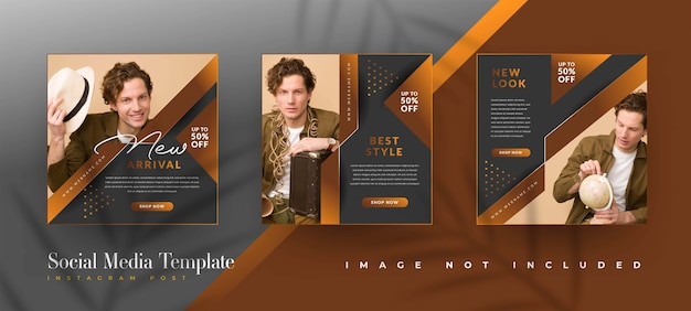 Brown fashion sale social media post templates