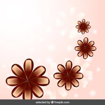 ブラウン花の背景
