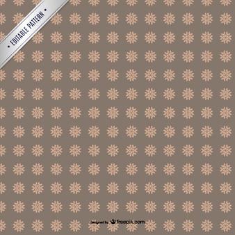갈색 꽃 패턴