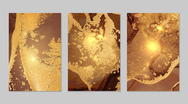Brown and fortuna gold marble abstract textures