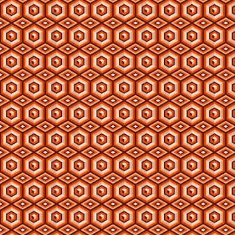 Brown geometric groovy seamless pattern