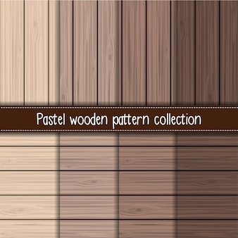 Brown gradient wooden seamless pattern collection