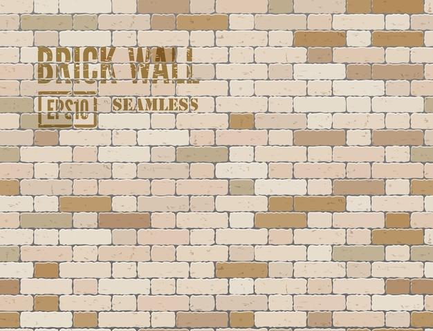 갈색 그런 지 벽돌 벽 원활한 배경