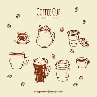 Кофейная чашка коричневого цвета