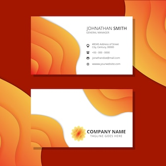 Brown horizontal business card