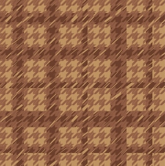 Brown houndstooth seamless pattern