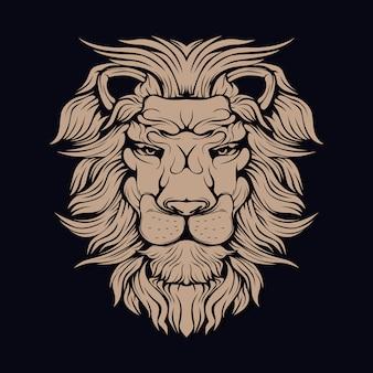 Коричневый лев