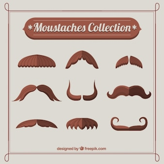 Brown moustaches collection