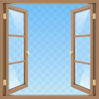 Brown open window