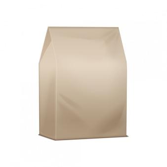 茶色のパック。空白の段ボールはランチパッケージを奪います。サンドイッチ、食品、その他の製品の包装