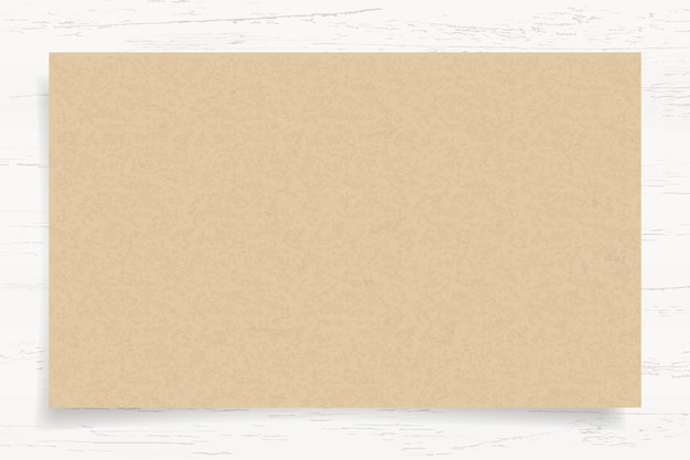 Brown paper texture on white wood background.