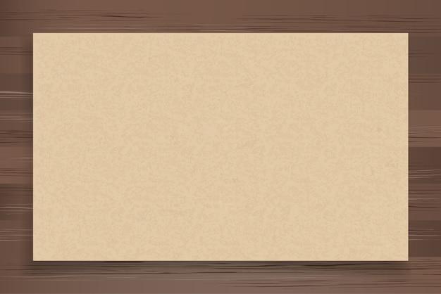 Brown paper on wood.