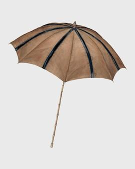 Illustrazione vintage vettoriale di parasole marrone, remix da opere d'arte di melita hofmann