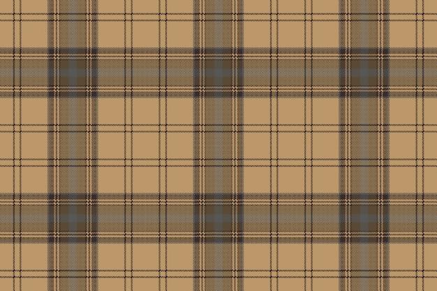 Brown plaid check tartan seamless pattern