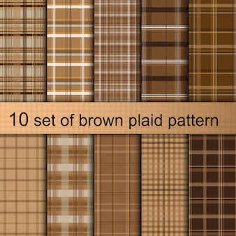 Brown plaid pattern