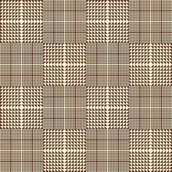 Brown plaid seamless pattern