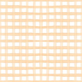 ブラウンチェック柄タータン水彩シンプルなシームレスパターン