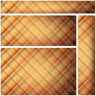 Brown plaid website banners