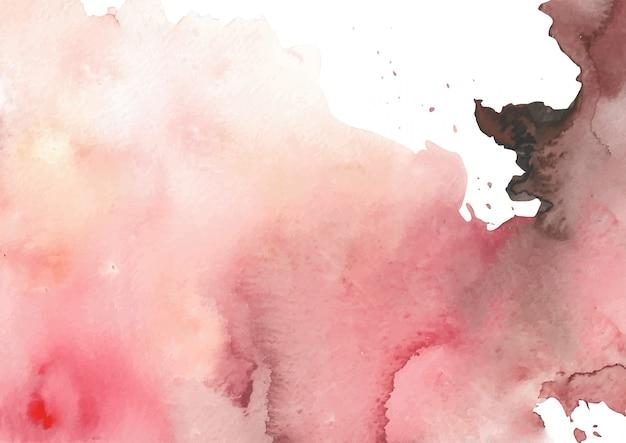 Коричневый красный всплеск абстрактная акварель