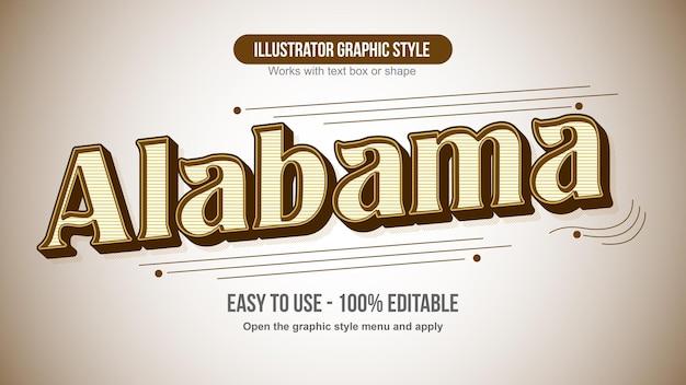 Brown retro fancy decorative vintage text effect
