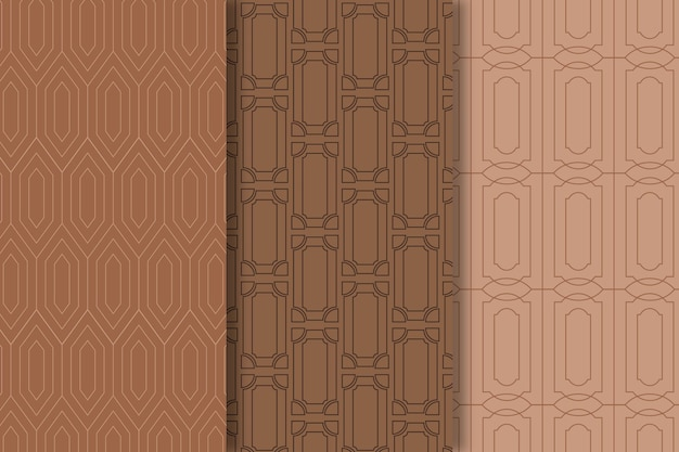 Brown shades of art deco seamless pattern