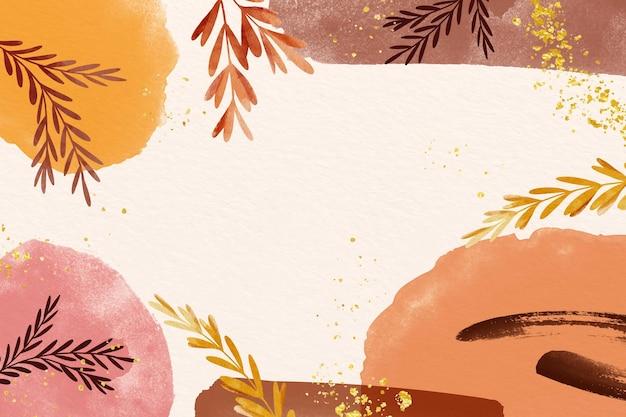 복사 공간의 갈색 음영 나뭇잎 배경