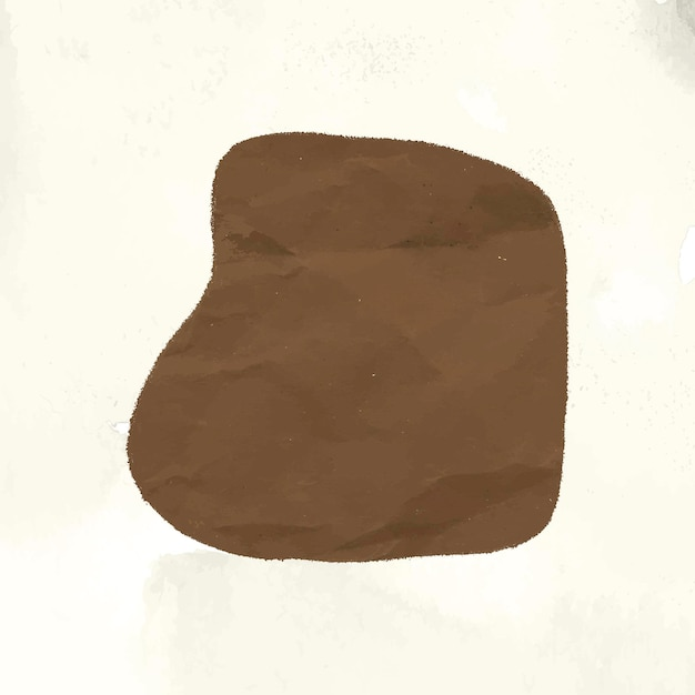 茶色の形のコラージュ要素、アーストーンベクトルでテクスチャリングされた抽象的な紙