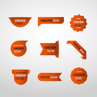 Brown stickers of order now promotion
