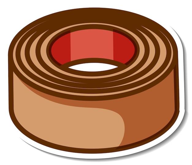 Rotolo di nastro adesivo marrone su sfondo bianco
