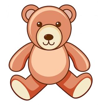 Brown teddy bear on white