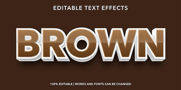 Brown text 3d style editable text effect
