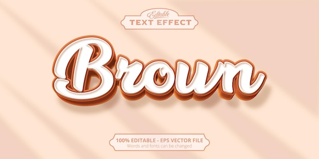 Brown text, editable text effect
