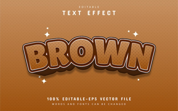 Brown text effect