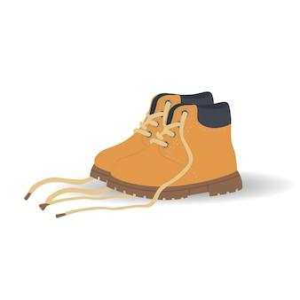 어린이 또는 성인을 위한 브라운 timberland 신발