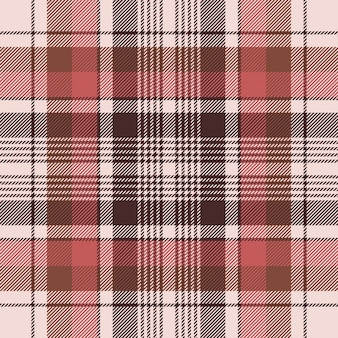 Brown traditional plaid fabric texture seamless pattern