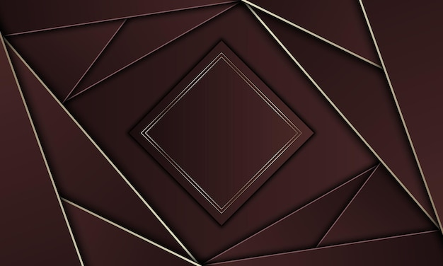 Brown triangles with gold lines and rectangle. brand new design for your banner.