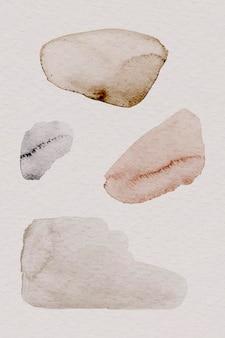 갈색 수채화 무늬 배경 템플릿