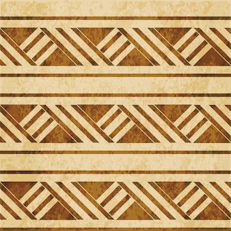 茶色の水彩テクスチャ、シームレスなパターン、アボリジニの正方形のジオメトリのクロスライン