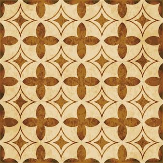 茶色の水彩テクスチャ、シームレスパターン、カーブクロスダイヤモンドジオメトリ