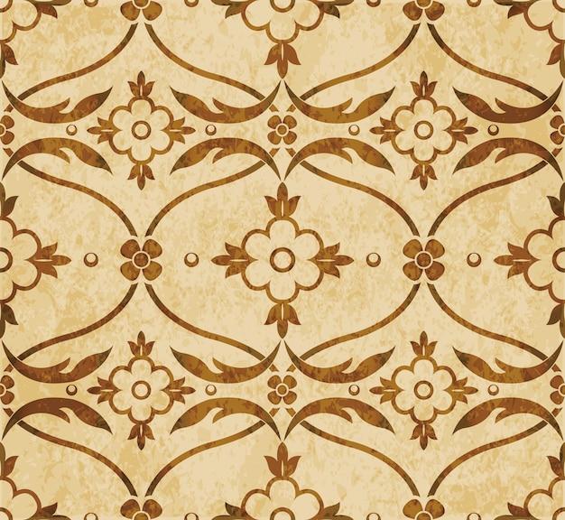 Коричневая акварель текстуры, бесшовные модели, кривая крест виноградных листьев цветок
