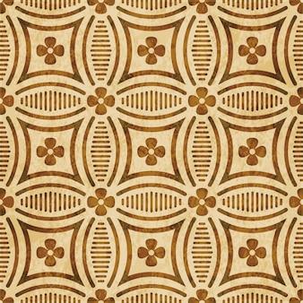 갈색 수채화 질감, 완벽 한 패턴, 곡선 라운드 크로스 라인 꽃